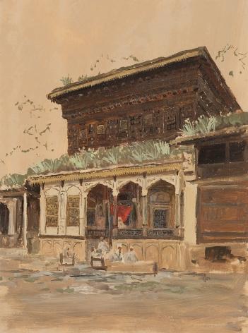 Lockwood de Forest (1850-1932), Balcony, India, circa 1881