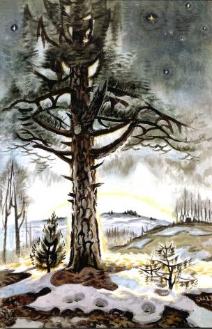 Charles Ephraim Burchfield (1893-1967), Late Winter Dawn, 1956-1965