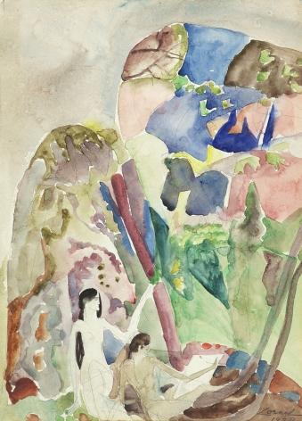 William Zorach (1887-1966), Figures in a Landscape