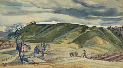 Charles Ephraim Burchfield (1893-1967), November Plowing, 1928