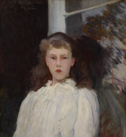 portrait of a girl in white