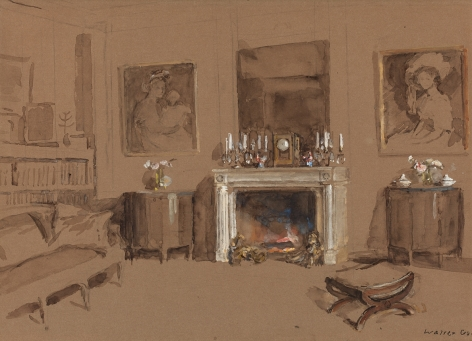 Walter Gay (1856-1937), Interior with Fireplace