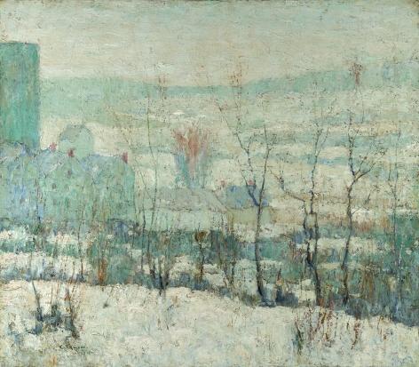 Ernest Lawson (1873-1939), New York Farm in Winter, 1913