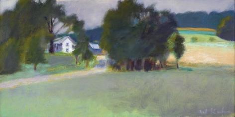 Wolf Kahn (1927-2020), Winchester Farm from Below #93, 1980