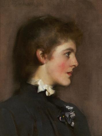 James Jebusa Shannon (1862-1923), Portrait of a Young Woman, circa 1889