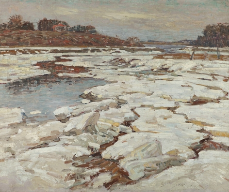 William Lester Stevens (1888-1969), A River in Winter
