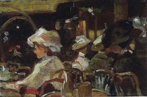 American School (20th Century), Café Scene