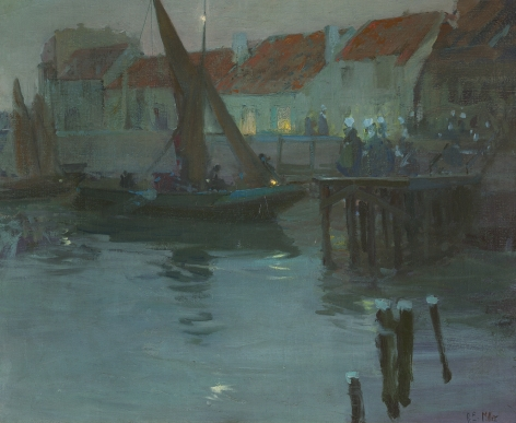 Richard Edward Miller (1875-1943), The Harbor at Night, Concarneau, circa 1901-1903