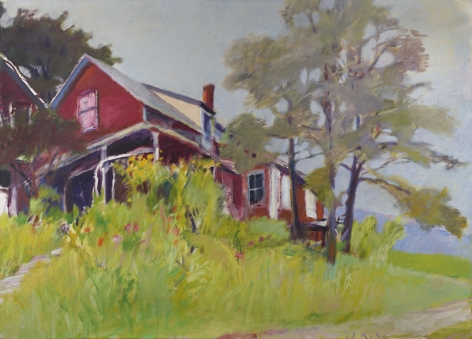 house in a landscape