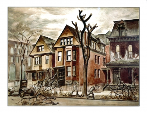 Charles Ephraim Burchfield (1893-1967) , Civic Improvement, 1927-1928