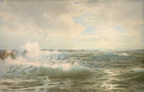 William Trost Richards (1833 – 1905), Seascape, 1893