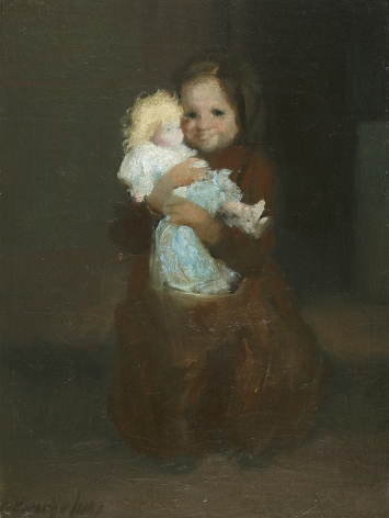 George Luks (1867-1933), Child with Doll, circa 1905-1909