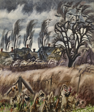 Charles Burchfield (1893-1967), November Wind At Dusk, 1946-59