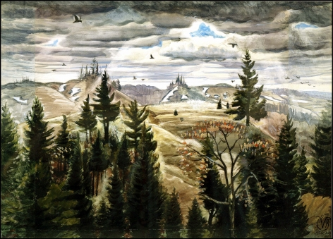 Charles Ephraim Burchfield (1893-1967), March Day, Gowanda, 1926-1933