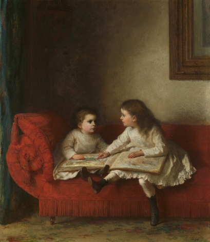 Jonathan Eastman Johnson (1824-1906), The Lesson, 1874