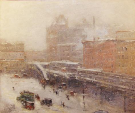 Guy Carleton Wiggins (1883-1962) , Lincoln Square, Winter