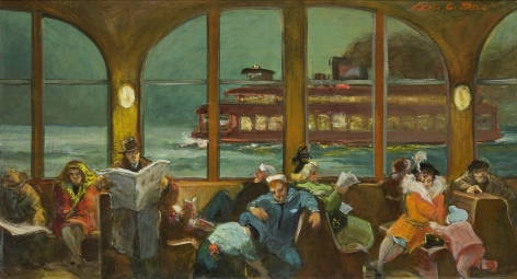 Cecil Crosley Bell (1906-1970), Ferry Ride at Night, 1951