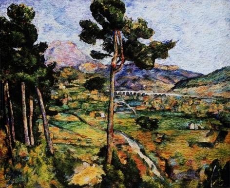 vik muniz, montagne sainte victoire, seen from montbriand, after cezanne
