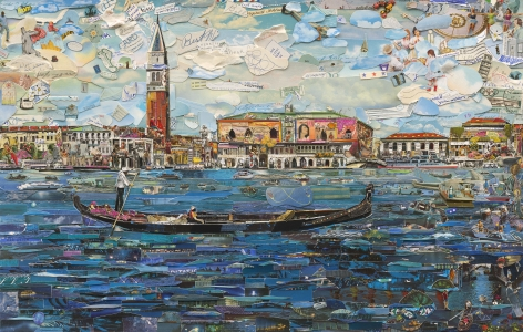 Vik Muniz, Venice (Postcards from Nowhere), 2014