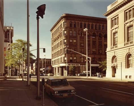 stephen shore Lincoln Street and Riverside Street, Spokane, Washington, August 25, 1974
