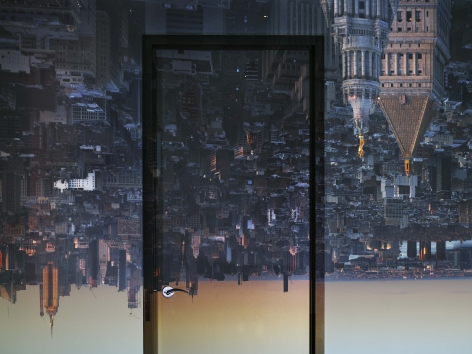 Abelardo Morell, Camera Obscura: View of Manhattan from Financial District, Early Evening, 2019