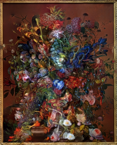 abelardo morell flowers for lisa 5 composite picture of flower painting, philadelphia museum of art