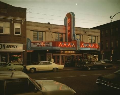 Stephen Shore, Bay Theater, Second Street, Ashland,Wisconsin, July 9, 1973