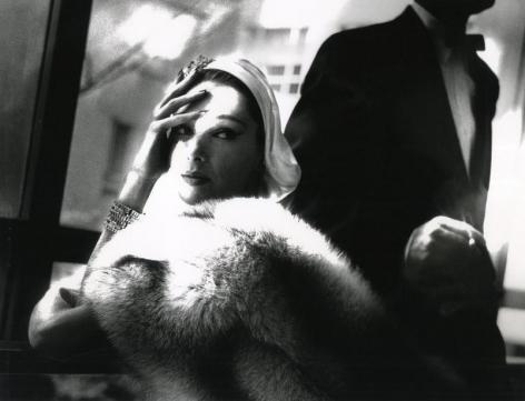 "Lillian Bassman ""Golden Fox, Blue Fox"", Boa by Frederica, Marilyn Ambrose, New York, Harper's Bazaar"