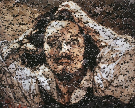 Vik Muniz The Desperate Man After Courbet self portrait