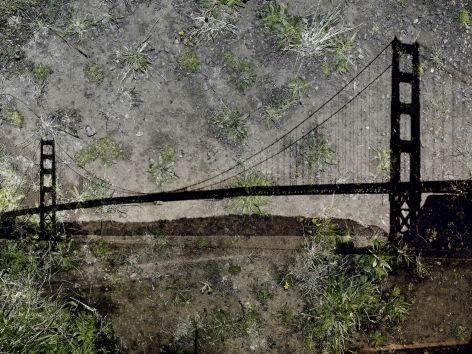 Abelardo Morell Tent Camera Image on Ground View of the Golden Gate Bridge from Battery Yates