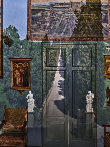Abelardo Morell, Camera Obscura: View of Villa Entrance in Blue Gallery, Villa la Pietra, Florence, Italy