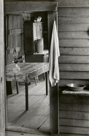 Walker Evans, Washroom and Dining Area of Floyd Burroughs' Home, Hale County, Alabama, 1936