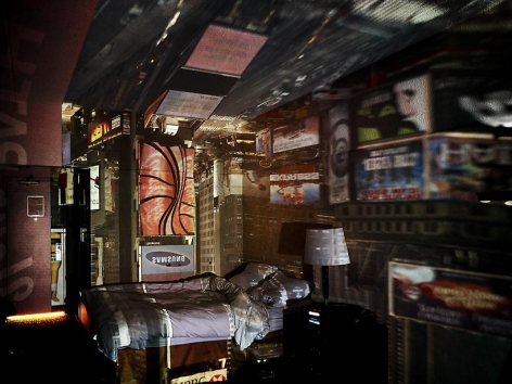 Abelardo Morell Camera Obscura View of Times Square in Hotel Room