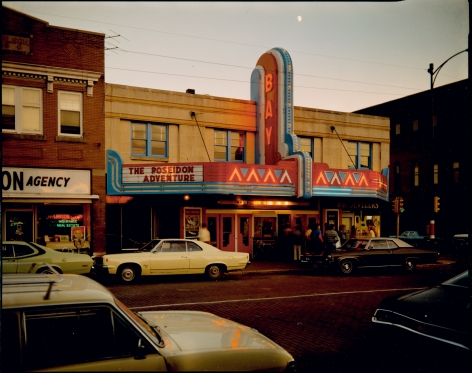 Stephen Shore, Bay Theater, Second Street, Ashland, Wisconsin, July 9, 1973, 1973