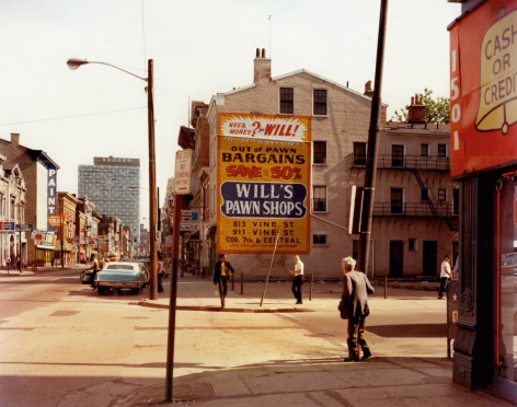 stephen shore West 15th Street and Vine Street, Cincinnati, Ohio, May 15, 1974