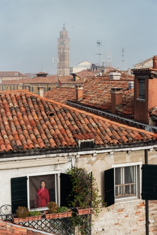 Out My Window, Red Kimono, San Marco, Venice, October, 2017