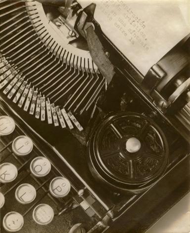 "Tina Modotti, Mella's Typewriter (aka ""La Técnica""), 1928"