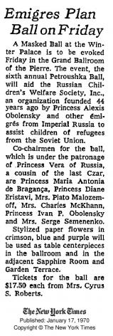 Petroushka Ball, 1970