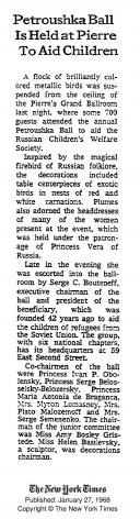 Petroushka Ball, 1968