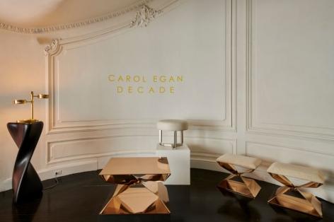 carol egan stool bronze