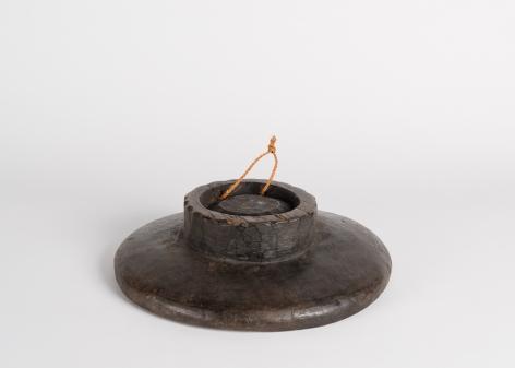 Footed Circular Bowl with a Large Platform Lip