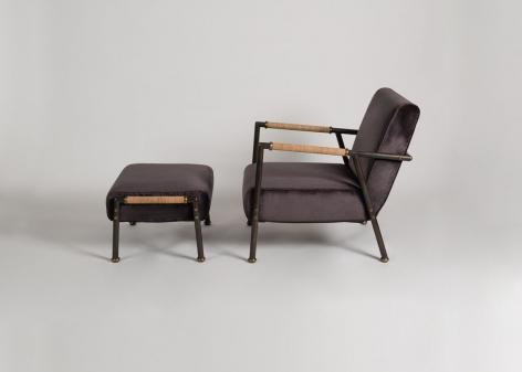 armchair and ottoman