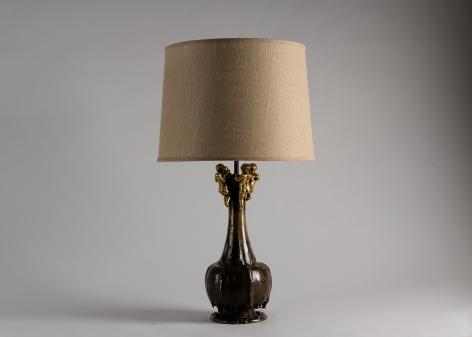 Art Nouveau Table Lamp With Cherubs