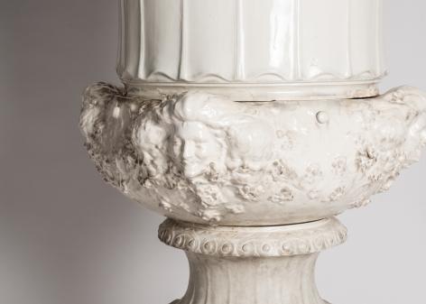 Printemps et Hiver, Fine Art Nouveau Jardiniere and Pedestal