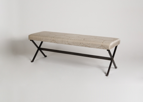 Pair of Cushioned Benches