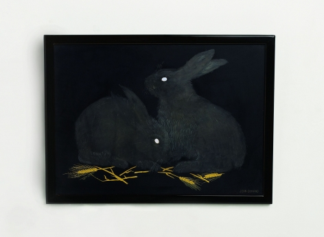 Dunand Rabbits Panel