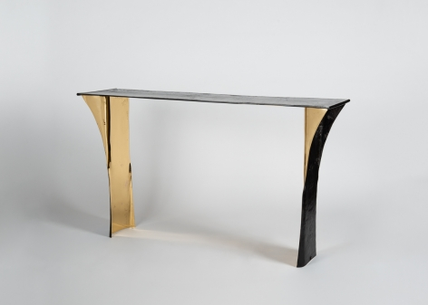 Aline Hazarian, Aramaz, Contemporary Console, Polished and patinated bronze, Lebanon, 2016