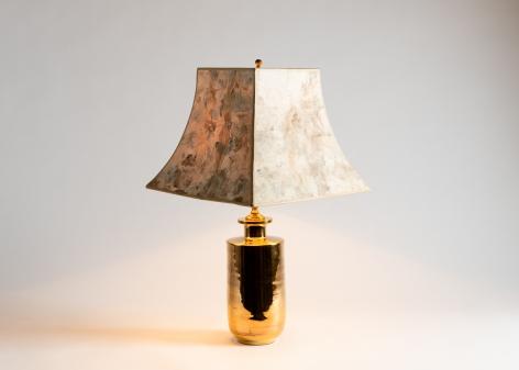 Gilt glazed ceramic lamp