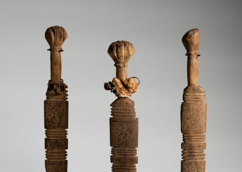 Set of Three Ceremonial Staves