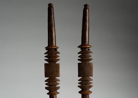 Set of Two Ceremonial Staves